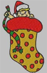 Elf Stocking embroidery design