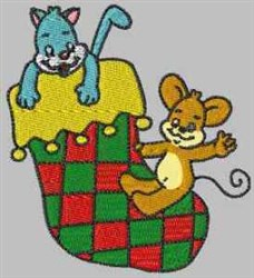 Mouse Stocking embroidery design