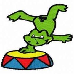 Pedestal Frog embroidery design