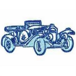 Antique Car embroidery design