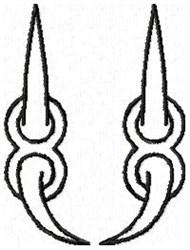 Claw U embroidery design