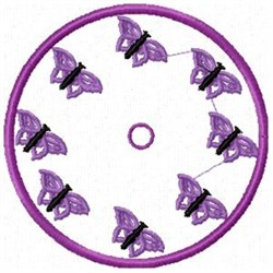 Butterfly Clock embroidery design
