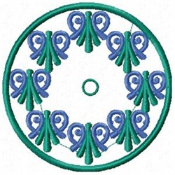 Flourish Clock embroidery design