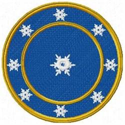 Snowflake Clock embroidery design