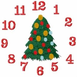 Christmas Clock embroidery design