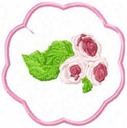 Rose Coaster embroidery design