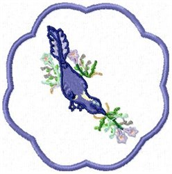 Bird Coaster embroidery design