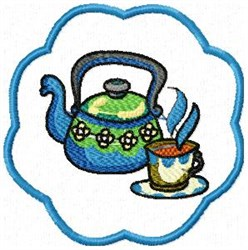 Kettle Coaster embroidery design