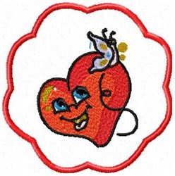 Heart Coaster embroidery design