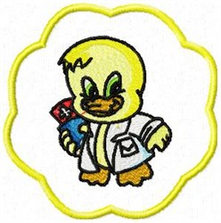 Duck Doctor embroidery design