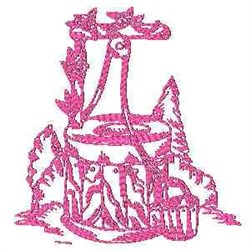 Well Redwork embroidery design