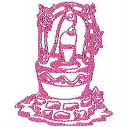 Redwork Well embroidery design