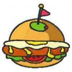 Hamburger Dinner embroidery design