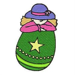 Easter Egg Woman embroidery design
