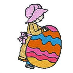 Easter Woman Egg embroidery design