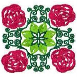 Bloom Block embroidery design