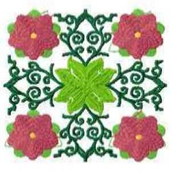 Block Floral embroidery design