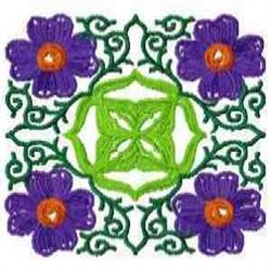 Block Flower embroidery design