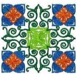 Block Bloom embroidery design