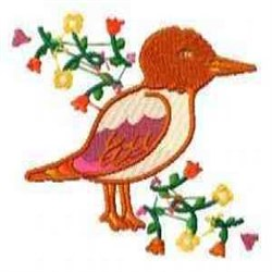 Bird Florals embroidery design