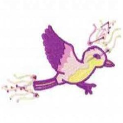 Blossom Bird embroidery design