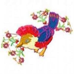 Blossoms Bird embroidery design