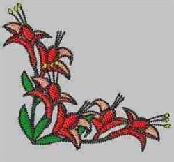Blossom Corner embroidery design