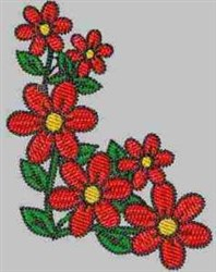 Flower Corner embroidery design