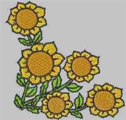 Sunflower Corner embroidery design