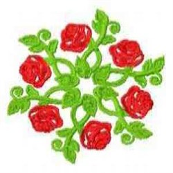 Rose Circle embroidery design