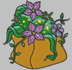 Flower Container embroidery design