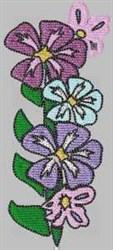 Purple Flower Border embroidery design