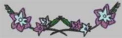 Flower Power Border embroidery design