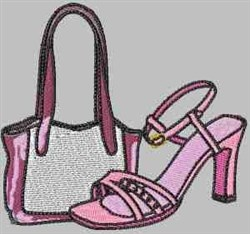 Purse And Shoes embroidery design