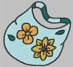 Floral Handbag embroidery design