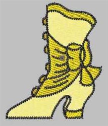 Yellow Boot embroidery design