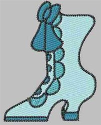 Aqua Boot embroidery design