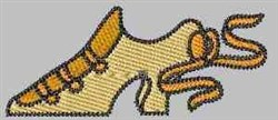 Yellow Shoe embroidery design