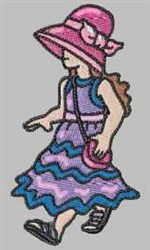 Funky Sunbonnet embroidery design