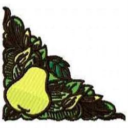 Pear Corner embroidery design
