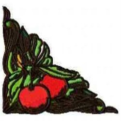 Cherry Corner embroidery design
