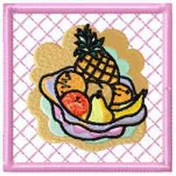 Fruits Potholder embroidery design
