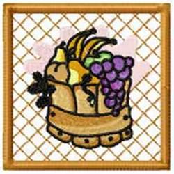 Fruit Barrel Potholder embroidery design