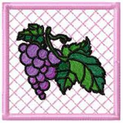 Grape Potholder embroidery design