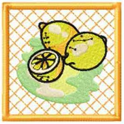 Lemon Potholder embroidery design