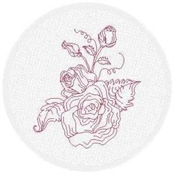 FSL Redwork Roses embroidery design