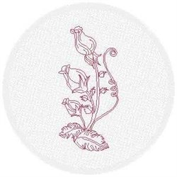 FSL Redwork Rose Buds embroidery design