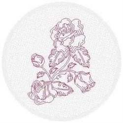 FSL Redwork Roses embroidery design