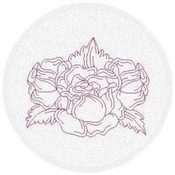 FSL Redwork Rose Spray embroidery design