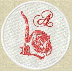 FSL Red Tiger A embroidery design